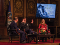 CAROLINE PAPPAS/THE HOYA Actor and director Bradley Cooper (COL '97), returned to Georgetown on Tuesday to reflect on his new film 'A Star is Born' and share his Georgetown memories.