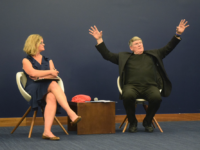 NATALIE ISÉ FOR THE HOYA March for Life President Jeanne Mancini (left) and Rev. Msgr. John Enzler of Catholic Charities   (right) critiqued the rhetoric of the modern pro-life movement at an event Tuesday.