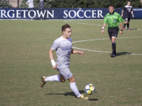 AISHA MALHAS/THE HOYA | The Georgetown men's soccer team has played in six matches that have gone into overtime this season, and have earned two wins in those games.