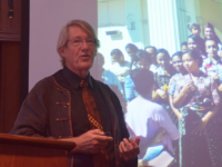 NATALIE ISÉ FOR THE HOYA Bernard Adeney-Risakotta urged both Western and Indonesian scholars to look beyond the rise radical Islam and into elements of Indonesia's secular society at an event in the Intercultural Center Oct. 2.