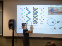 """SCHOOL OF FOREIGN SERVICE Professor Cynthia Wei teaches """"Examining Crises Through the Lens of Science,"""" one of the approved science courses introduced in the School of Foreign Service as part of the new core requirement."""