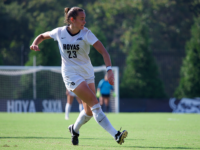 KIRK ZIESER FOR THE HOYA | Junior defender Meaghan Nally has two goals this season for the Hoyas, and is a key member of Georgetown's defense, which has ten shutouts this season.
