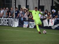 SOPHIA NUNN FOR THE HOYA | Freshman goalkeeper Giannis Nikopolidis has started 11 games for The Hoyas this season, saving 39 shots.