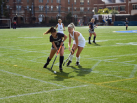 KIKI SCHMALFUSS FOR THE HOYA Sophomore midfielder Jax Van Der Veen has tallied 7 assists this season for the Blue and Gray.