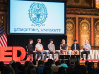 "TEDXGEORGETOWN Fourteen speakers, including professors, students and chaplins, spoke at the seventh annual TEDxGeorgetown conference. The speeches focused on the theme ""Ignite."""