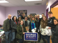 DEBORAH APPLEBAUM Georgetown students canvassed for candidate George Scott (SFS '84) during a trip organized by Georgetown University College Democrats on Oct. 27-28. Scott (D) is running to unseat incumbent Rep. Scott Perry (R-Pa.) in the race for Pennsylvania's 10th District.