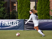 SOPHIA NUNN FOR THE HOYA   Freshman defender Jenna Royson has started seven games for the Hoyas this season, and recorded an assist in Georgetown's win over Xavier Nov. 1.