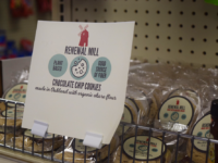 NATALIE ISÉ/THE HOYA Vegan chocolate chip cookies produced by Renewal Mill, a startup company run by Caroline Cotto (NHS '14), are now available for purchase at Vital Vittles.