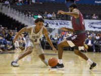 Freshman guard James Akinjo had 8 points and 7 assists while playing 26 minutes in his debut.  Derrick Arthur Cudjoe/The Hoya