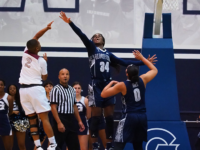 Graduate student guard Dorothy Adomako scored 18 points and 10 rebounds against Maryland Eastern Shore. Kirk Zieser/The Hoya