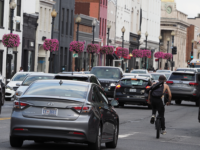 KIRK ZIESER FOR THE HOYA Ride-sharing services like Uber and Lyft will be restricted to five new pickup and drop-off zones in high-traffic areas of Washington, D.C., as part of a District initiative to increase pedestrian safety.