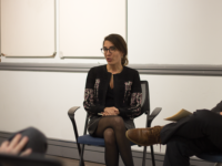 SHEEL PATEL/THE HOYA Journalism offers real-time information about global events for political leaders and policy-makers, BBC reporter Suzanne Kianpour said at an event on Nov. 13.