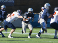 Freshman running back Herman Moultrie III had 157  yards from scrimmage and 6.1 yards per rush in the win over Bucknell. Amanda Van Orden/The Hoya