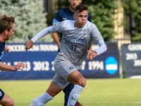 Sophomore midfielder Jacob Montes assisted on Georgetown's last goal of the game against Providence.  GU HOYAS