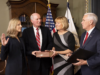 VICE PRESIDENT MIKE PENCE Kathleen Kraninger (LAW '07) (left) was sworn in Monday as the new director of the Consumer Financial Protection Bureau.