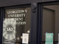 ANNE STONECIPHER/THE HOYA Georgetown University Student Association President Juan Martinez (SFS '20) and Vice President Kenna Chick (SFS '20) seek to increase transparency among GUSA, the university and the student body.
