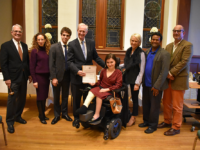 AMBER GILLETTE/THE HOYA Anne Landre (SFS '21) was sworn into a two-year position on the Advisory Neighborhood Commission 2E, which oversees Georgetown and surrounding areas, Feb. 4. Landre joins Mathias Burdman (COL '21) who was sworn in earlier this month.