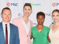 UNBROKEN HORIZONS SCHOLARSHIP FOUNDATION INC Unbroken Horizon board member Kyle Fortenberry, President and Founder Seth Owen, Vice President Zenja Key Stallworth and board member Kaylee Petik attend the Equality Florida Great Jacksonville Gala to accept recognition for their work on behalf of LGBTQ high school students.