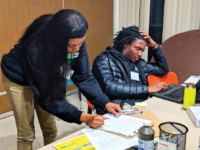 PETER NOUHAN/FACEBOOK | High school volunteers from SEED Tax Prep Ambassadors have assisted over 70 people in filing their taxes since the program's start.