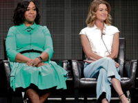 "IMDB | Shonda Rhimes, far left, was the showrunner for ""Grey's Anatomy,"" starring Ellen Pompeo. While Rhimes has had much success, challenges still exist for female showrunners."