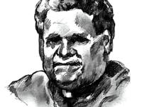ILLUSTRATION BY ALEXANDRA BOWMAN/THE HOYA | Neil P. McLaughlin, Hospital Chaplain, 1965-1983