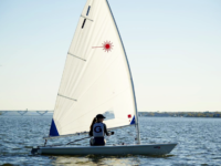 GUHOYAS   The Georgetown coed sailing team earned a record of 6-4 and placed fifth out of eighth of Admiral Moore team race