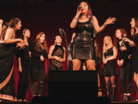 GEORGETOWN RANGILA FACEBOOK | The Hilltop flourishes with student performers, including a cappella groups like GraceNotes. Hanna Chan (COL '19), center, shares her passion for singing and reflects on the challenges she faced as a musician.
