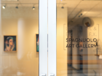 MAGGIE CHEN/THE HOYA | In previous years, the annual Senior Major Art Exhibition was showcased in the Lucille M. and Richard F.X. Spagnuolo Gallery. This year, four graduating artists presented their work in the Mario & Alberto de la Cruz Gallery.