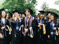 GEORGETOWN COLLEGE - GEORGETOWN UNIVERSITY FACEBOOK PAGE | Members of the Georgetown College Class of 2019 gathered at commencement May 18.