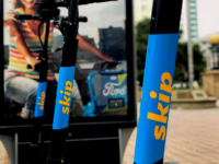 SKIPSCOOTERS \ INSTAGRAM |  After leaving D.C. amid a series of battery fires, dockless scooter company Skip returned to Washington.