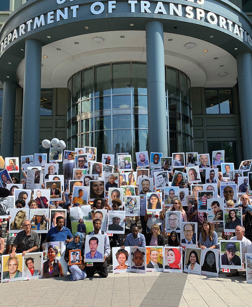 Demonstrators Remember Ethiopian Airlines Crash Victims