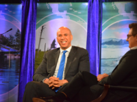 NATALIE ELSÉ/THE HOYA | Sen. Cory Booker (D-N.J.) stressed the importance of an intersectional approach to climate change focused on socioeconomic justice in his session during day two of the 2020 Climate Forum.