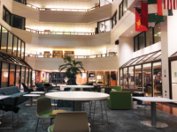 MAGGIE FOUBERG/The HOYA   The Intercultural Center Galleria received updated furniture, including new couches and tables, with future plans to update other floor's furniture as well.
