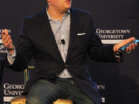 ASHLEY CHEN / THE HOYA | Keith Grossman, the President of TIME spoke about his experience, paywalls, and media equity.