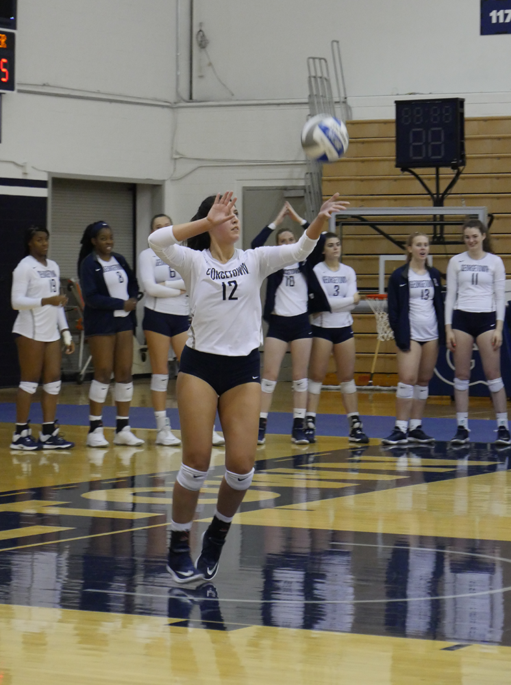 VOLLEYBALL | Hoyas Suffer Defeat in 2 Big East Matchups
