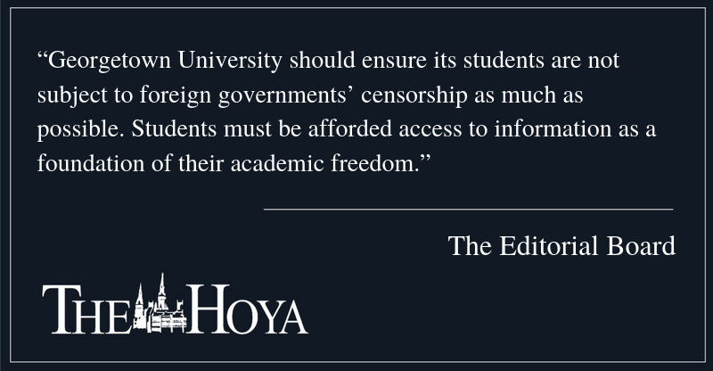 EDITORIAL: Encourage Student Internet Access Abroad
