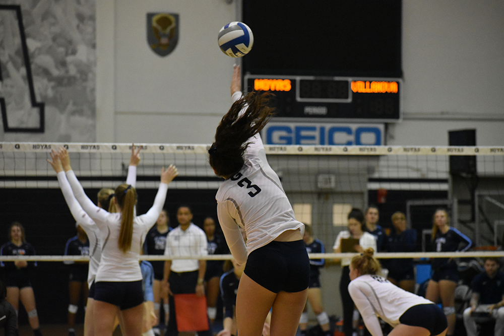 VOLLEYBALL | Georgetown Falls To Villanova in Match Series