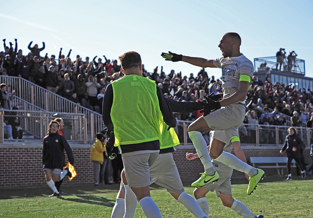 MEN'S SOCCER   Georgetown Notches 2 Second-Half Goals to Overcome Washington and Advance to the College Cup